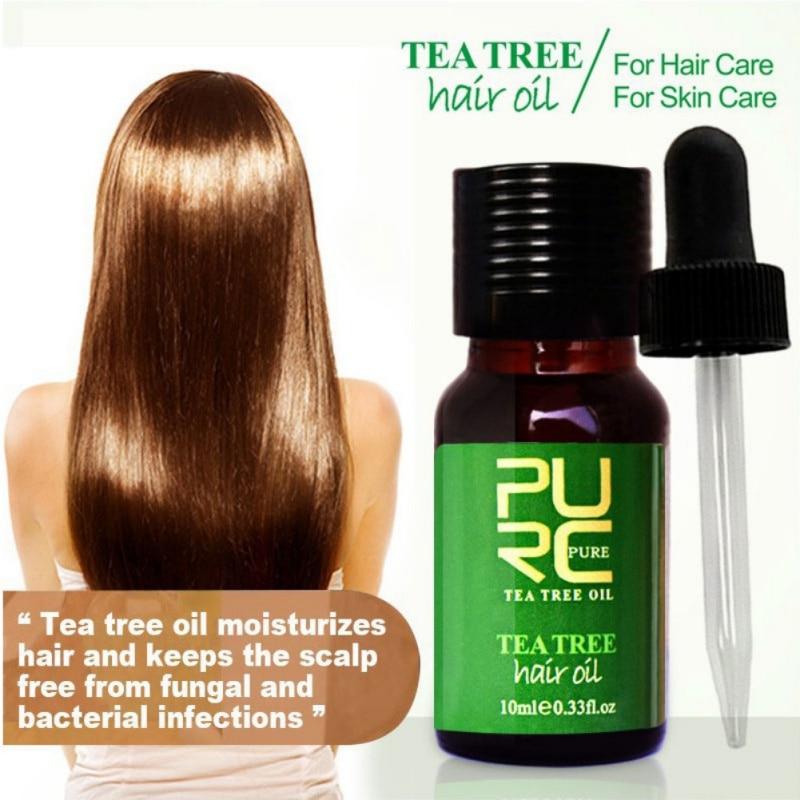 Tea Tree Hair Oil Hair Treatment for Dry and Damaged Hair Hot Sale Moisturizes Hair and Best for Skin Care Good Use