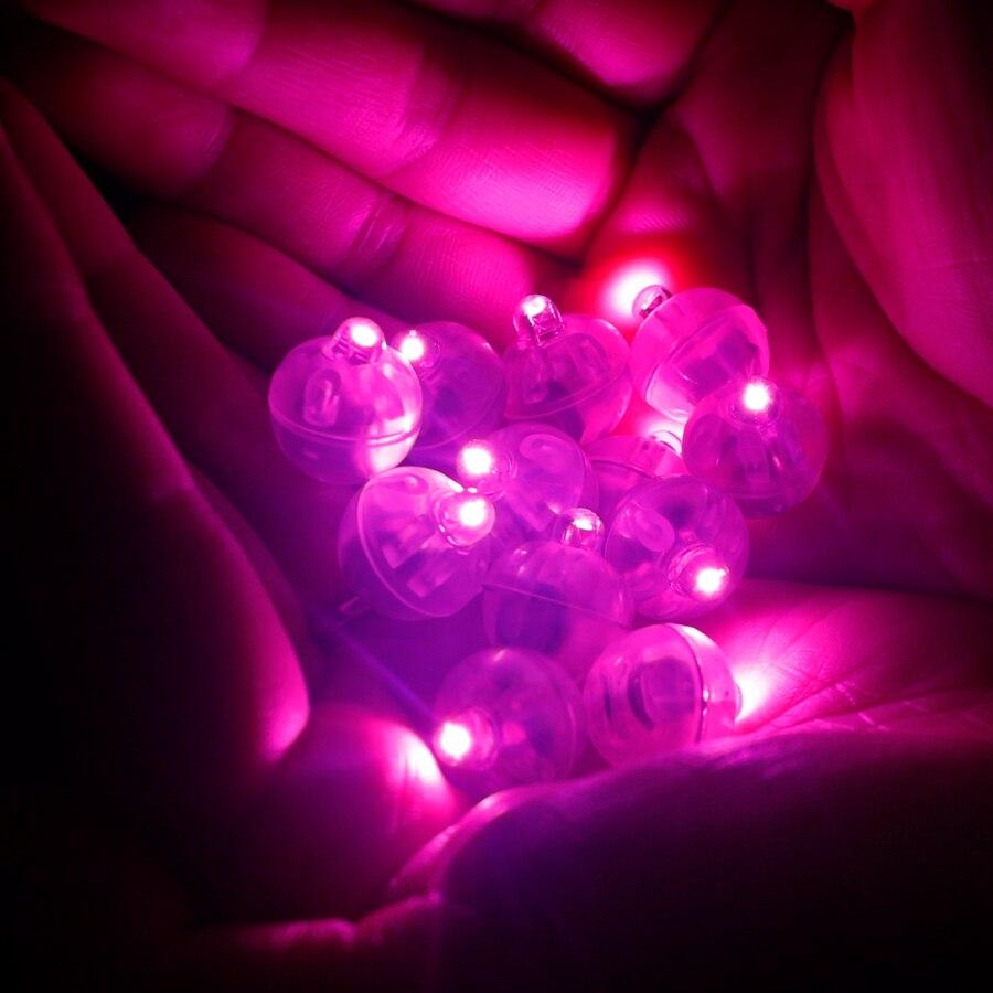 100 Pcs/lot Runde Mini Ball Lampen Rosa Led Ballon Licht für Laterne Weihnachten Hochzeit Party Dekoration Lichter