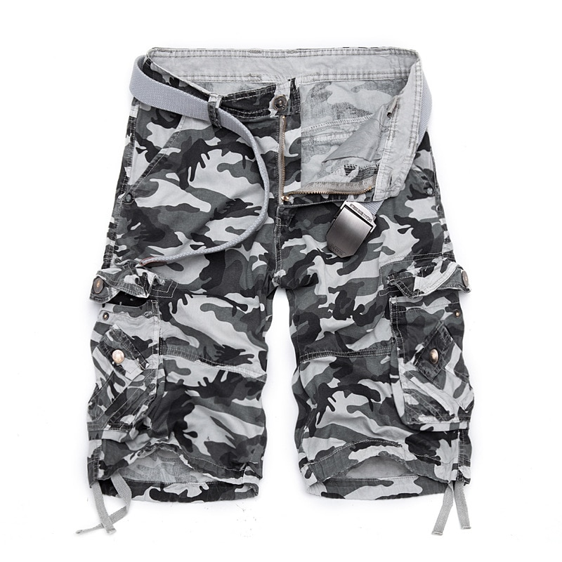 New Loose Men's Camouflage Shorts, Cool Military Camouflage Shorts In Summer, Big Discount, No Belt