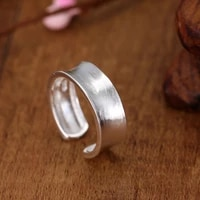 fashion simple frosted ring silver plated opening adjustable ring charm womens daily jewelry leisure party accessories