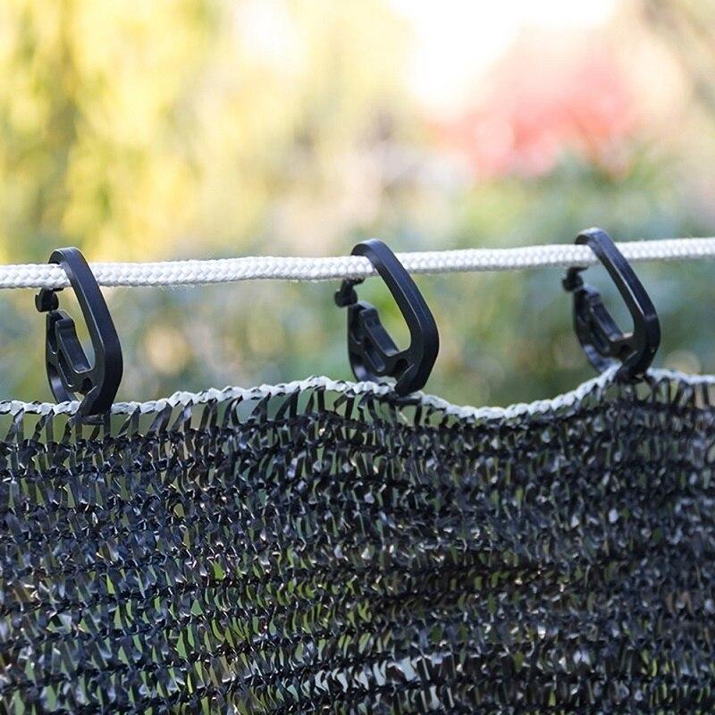 100 шт. затеняющие сетчатые крючки, пластиковые подвесные крючки для теплицы, затеняющая ткань, новый материал PE, высокая прочность и долгове...