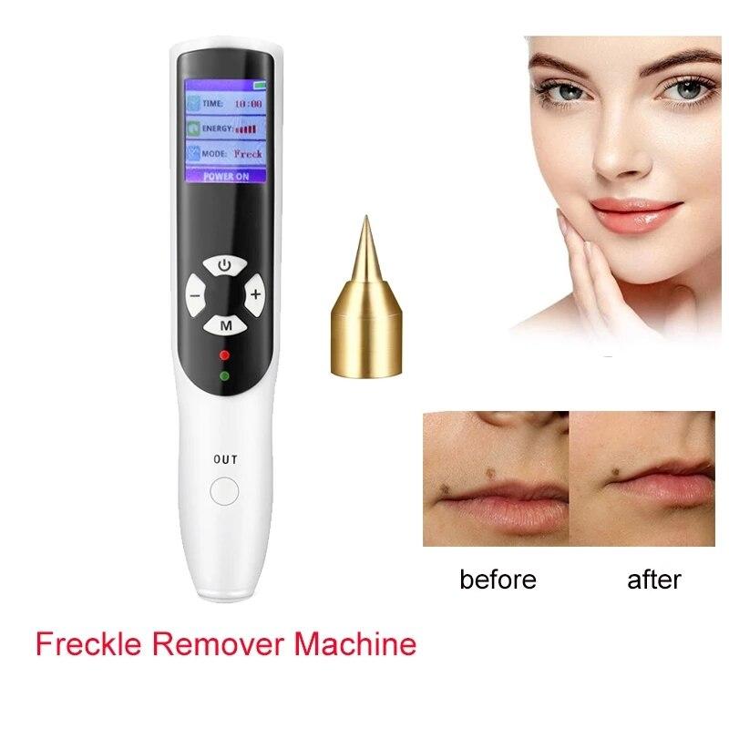 2 في 1 قلم بلازما النمش ماكينة إزالة والأوزون المضادة للتجاعيد جهاز LCD الخلد الوشم الجلد علامة أداة إزالة الصواميل بقعة داكنة الأنظف