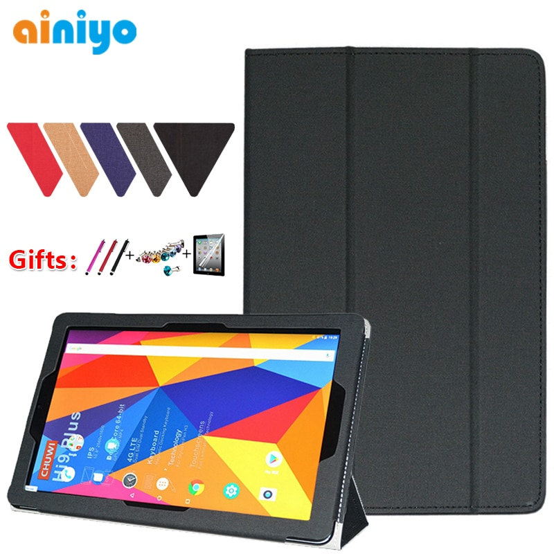 tablet case for chuwi hi10 hi10 pro hi9 hi9 air hi9 pro hipad 10 1 drop resistance flip bracket protective shell free stylus For CHUWI hi9 plus case High quality Stand Pu Leather Cover For CHUWI hi9plus 10.8 Tablet PC protective case + 3 Gifts
