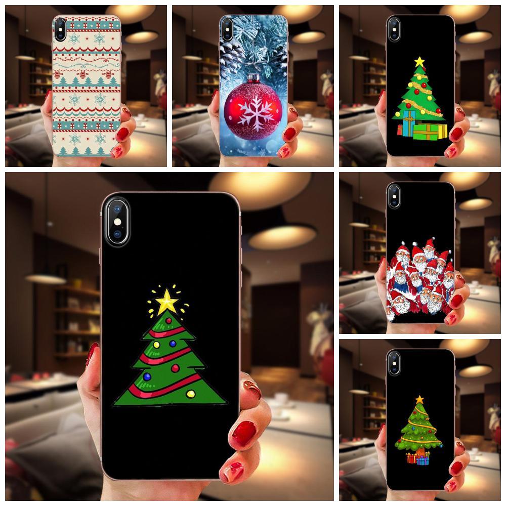 Santa Claus, árbol de Navidad para Xiaomi Redmi 3S 3S 4 4A 4X 5 6 6A 7 K20 nota 2 3 4 5 5A 6 7 Plus Pro Tpu suave negro teléfono caso