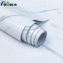 Autocollants muraux en Film brillant marbre   Autocollant autoadhésif pour plan de travail, autocollant imperméable à motif Imitation PVC marbre