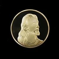 religious belief jesus christ statue jesus crucifixion commemorative coin art painting final dinner gold plated gold coins