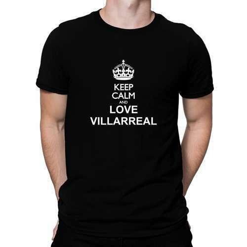 Mantener la calma y amor Villarreal camiseta