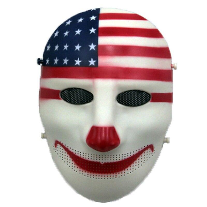 Клоуна для карнавала полное лицо тактическая маска черепа Косплэй Вечерние Маски на Хэллоуин армии Военная Униформа CS страйкбол маска для ...