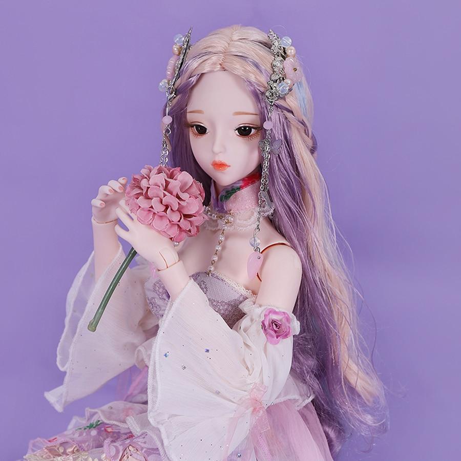 حلم الجنية 1/3 BJD دمية الأميرة فستان 62 سنتيمتر الكرة صوتها دمية مجموعة كاملة DIY بها بنفسك ماكياج مفصلية دمى SD MSD هدية للفتيات