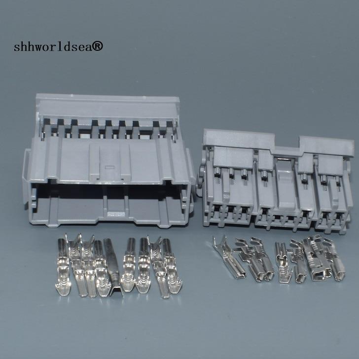 Shhworldsea 16pin 2.2mm conector elétrico automático da tomada cablagem cabo conector unsealed 6098-0255 6098-0256