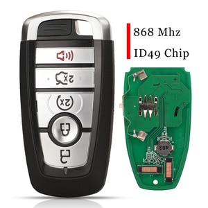 jingyuqin 5 Button Smart ControlCar Key Fob 868Mhz ID49 For Ford Ford Fusion Edge Explorer Expedition M3N-A2C93142600