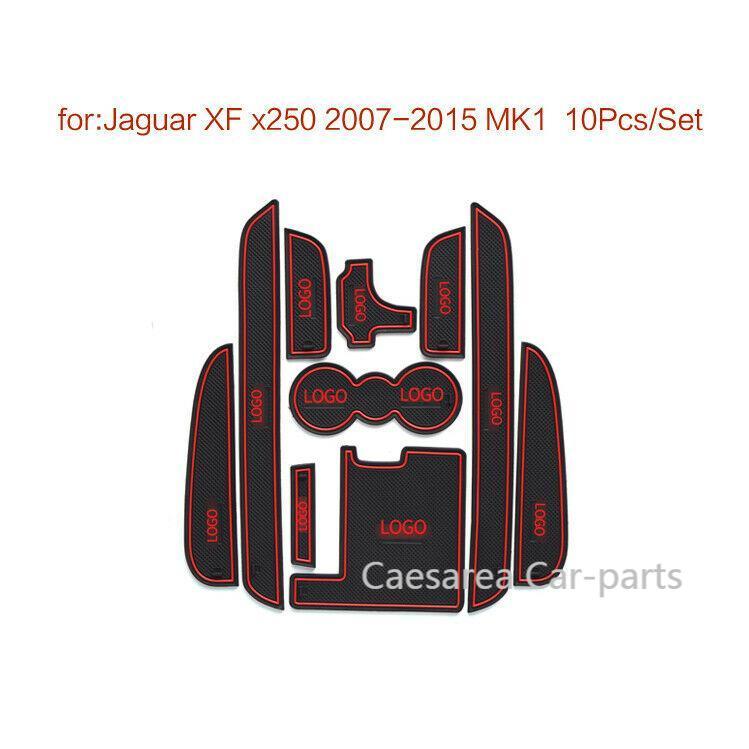 Alfombrilla de ranura de puerta de coche posavasos interiores antideslizantes para Jaguar...
