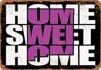 SRongmao     panneau metallique 8x12  noir et violet  maison douce  nouveau-mexique