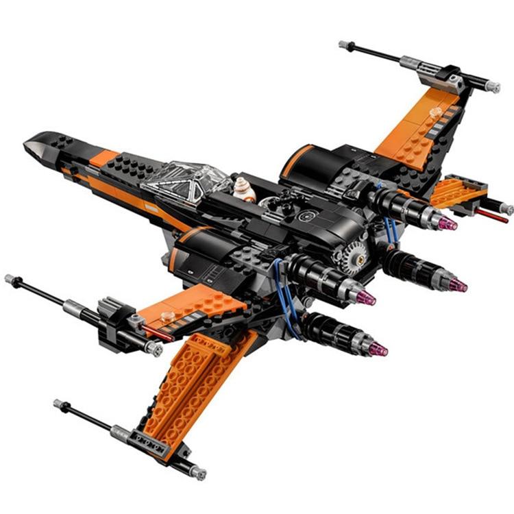 Novo 845 pces compatível lepinblock star wars primeiro pedido poe x-wing lutador montado brinquedo bloco de construção 05054