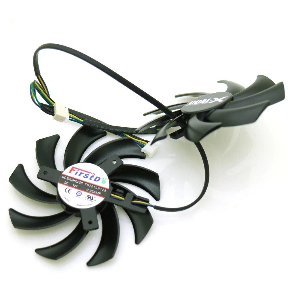 مروحة تبريد بطاقة الرسومات ، FD7010H12S 12V 0.35A 4Pin 85 مللي متر VGA لـ Sapphire HD 7790 7850 7870 7950