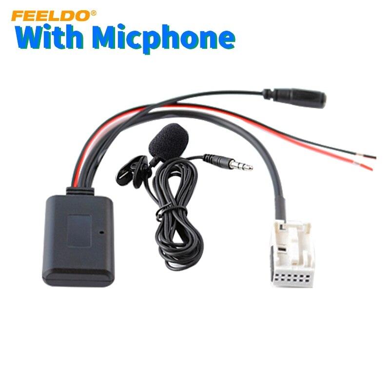 FEELDO 5X Auto Drahtlose Bluetooth Modul Adapter Radio Audio Aux Kabel Adapter für Volkswagen RCD200 RCD210 RCD310 RNS300 RNS310