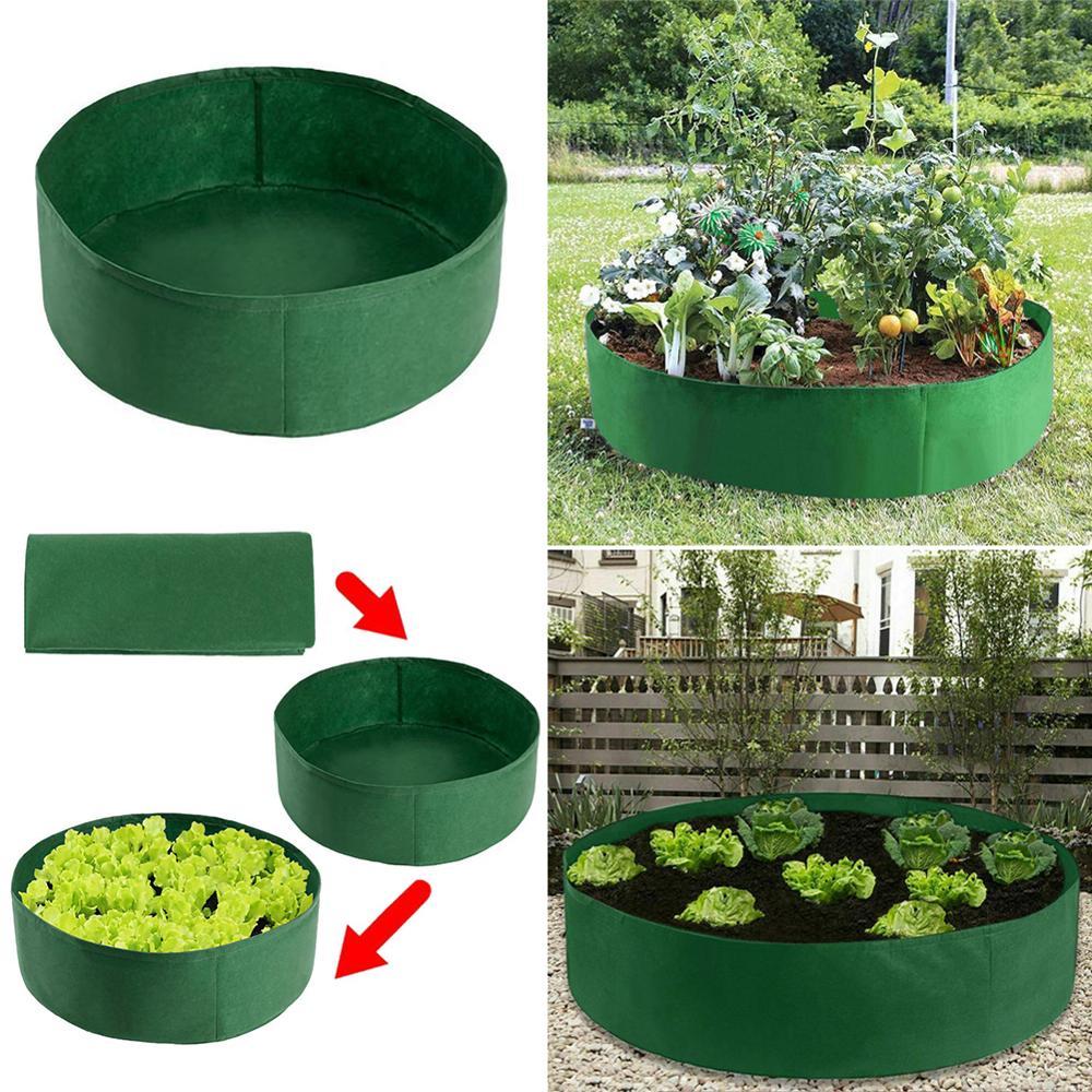 Bolsa de tela para jardín con capacidad para 30 galones, contenedor redondo para plantar en jardín, bolsa para cultivo, maceta de fieltro transpirable para plantas, maceta de vivero