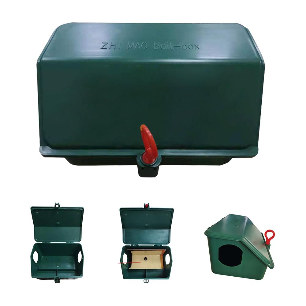 Купить с кэшбэком 2pcs Green Pest Reject Single Lock Rat Rodent Mouse Bait Trap Station