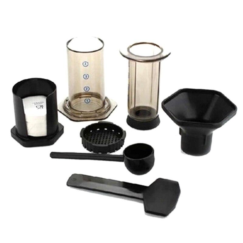 ماكينة صنع قهوة الإسبريسو بفلتر زجاجي ، محمولة ، مكبس فرنسي ، إبريق قهوة لآلة AeroPress