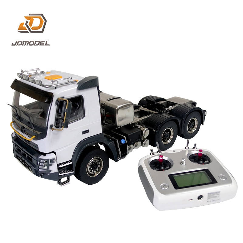 JDM 136 1/14 RC 6*6 المعادن جرار نماذج من الشاحنات I6S راديو علبة التروس ESC محاور عجلات TH18488