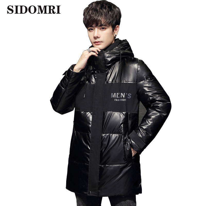 Men's long down jacket t new trend Gloosy color Asual fashion down coat warm white down jacket new Arrival