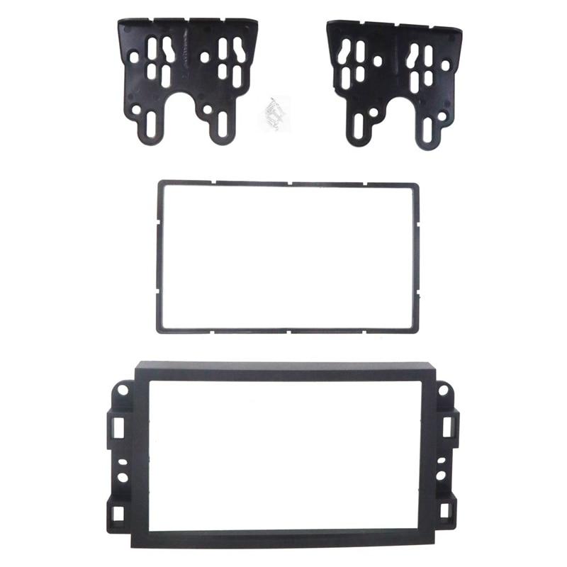 18 gratis 2Din DVD del coche de adaptador de conexión de audio Dash Trim Kits de Fascia Panel para Chevrolet Captiva/Lova/Sentra doble Din Radi