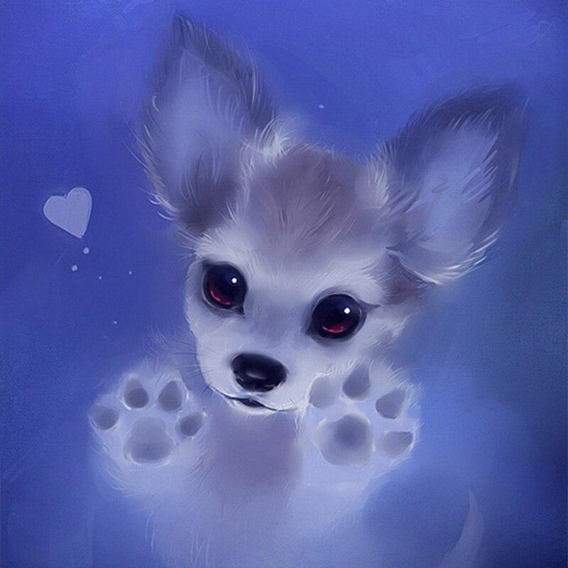 5d diy diamante bordado cão dos desenhos animados pintura diamante quadrado completo diamante mosaico bordado decoração para casa zwq
