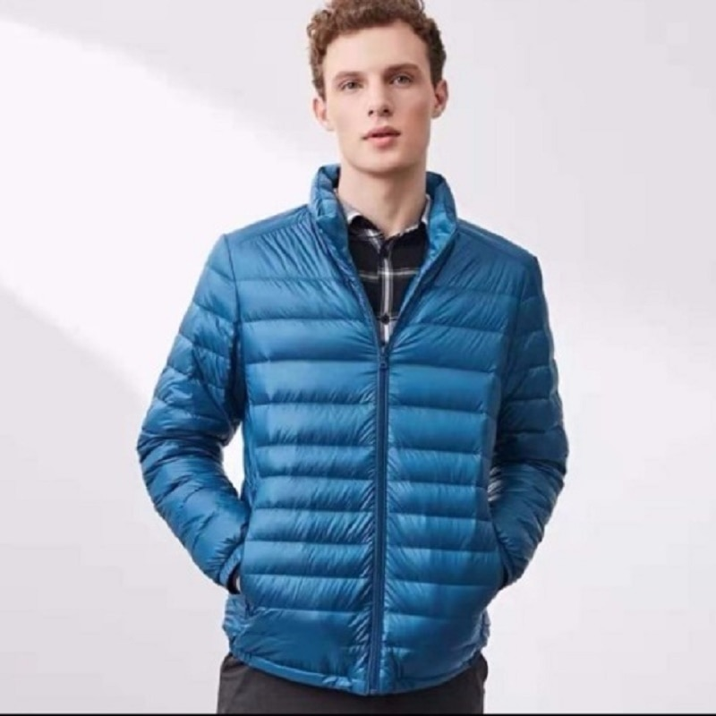 Фото - AECU New Men White Duck Down Jacket  Portable Hooded Down Coat Ultralight Men Winter Coat Warm Thermal Down Parkas covrlge trendy hooded men s white duck down jacket stand collar embroidered down jacket men winter warm causal coat us mwy034