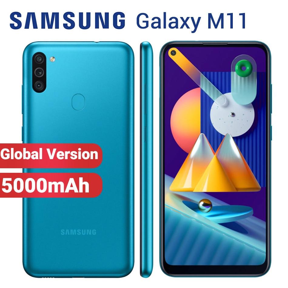 Перейти на Алиэкспресс и купить Смартфон Samsung Galaxy M11, телефон с двумя SIM-картами, аккумулятор 5000 мАч, 32 ГБ, 3 ГБ, экран 6,4 дюйма, Snapdragon 450, Android 10, 4G