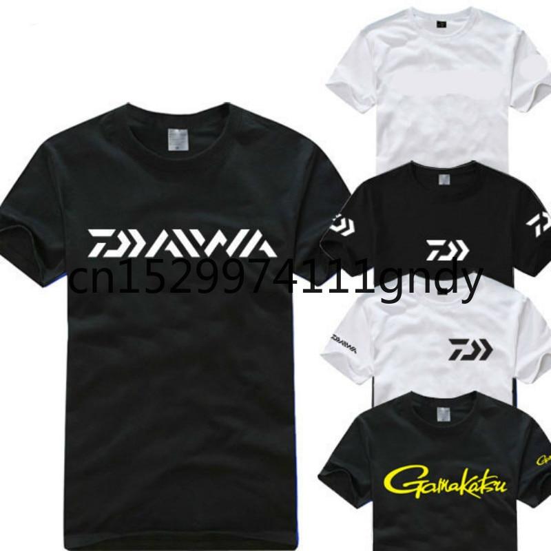 DAIWA Fishing T Shirt 2020 New Short Sleeve Quick Dry Breathable Angler Outdoor Sun Protective UV Blocking Sport Cloth