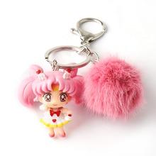 ins Girl Heart Sailr Moon Key Chain Car key Chain School Bag Pendant Couple Doll Christmas gifts
