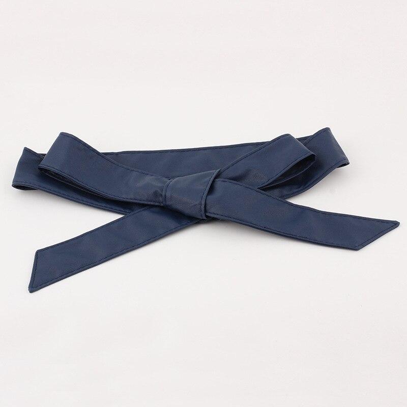New Lace Up PU leather Wide Corset Cummerbunds Belts For Women Girls Waist Slimming Girdle Belt Bow Ties Belt Ladies Waistbands