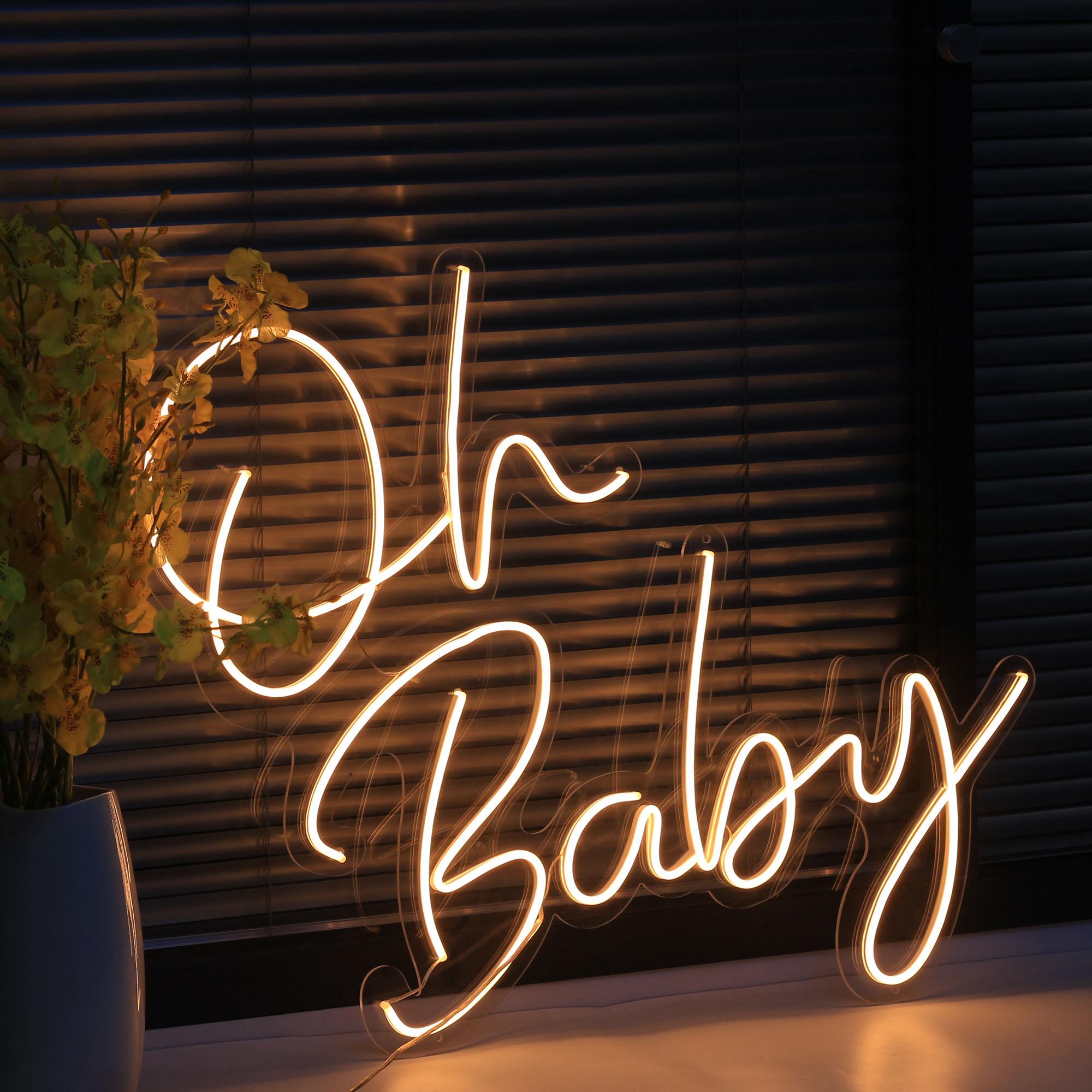 Custom Made Neon Sign Wall Oh Baby LED Light Flex Neon Handmade Beer Bar Shop Logo Pub Store Club Nightclub Decoration
