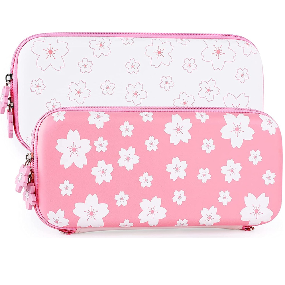 Sakura Pink Carry Case for Nintendo Switch Lite  Portable Hard Shell Travel Carrying Case for Nintendo Switch oled Accessories