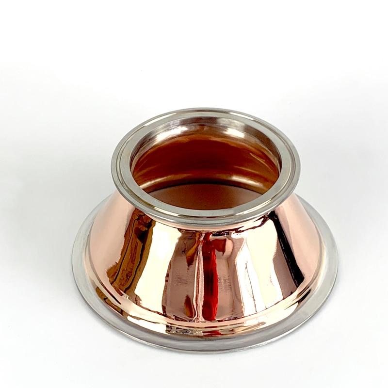 "Clamp 6.5"" x 4"" Pure Copper Reducer , Red Copper, Distillation, Moonshine still"