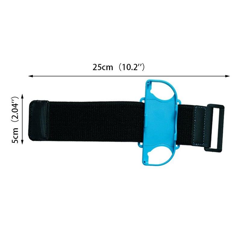 Купить с кэшбэком For Nintendo Switch Just Dance Joy-Con Controller Armband Nintendos Switch Adjustable Elastic Dance Strap Wrist Band 2Pcs