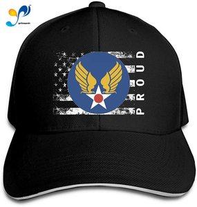 US Army AIR Corps Flag Proud American Men Classic Outdoor Casquette Peak Cap