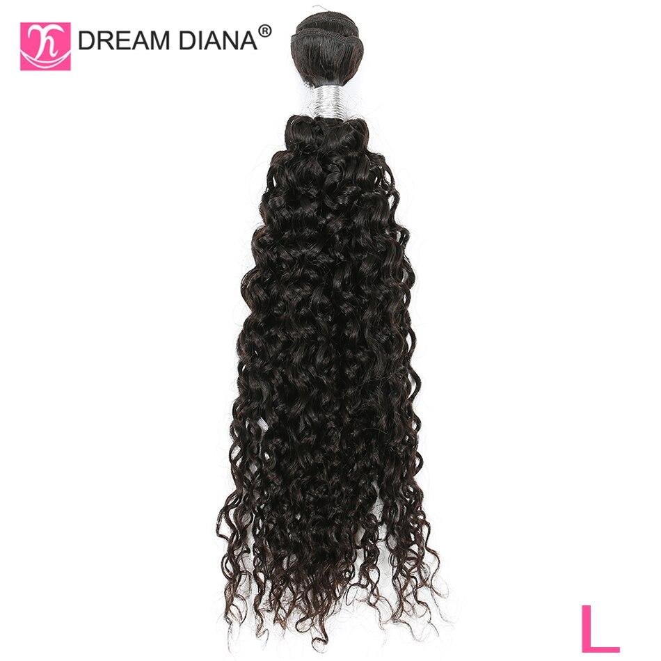 "DreamDiana Remy pelo brasileño Pelo Rizado mechones Color negro Natural 8 ""-30"" 100% humano extensiones de cabello rizado teñido L"