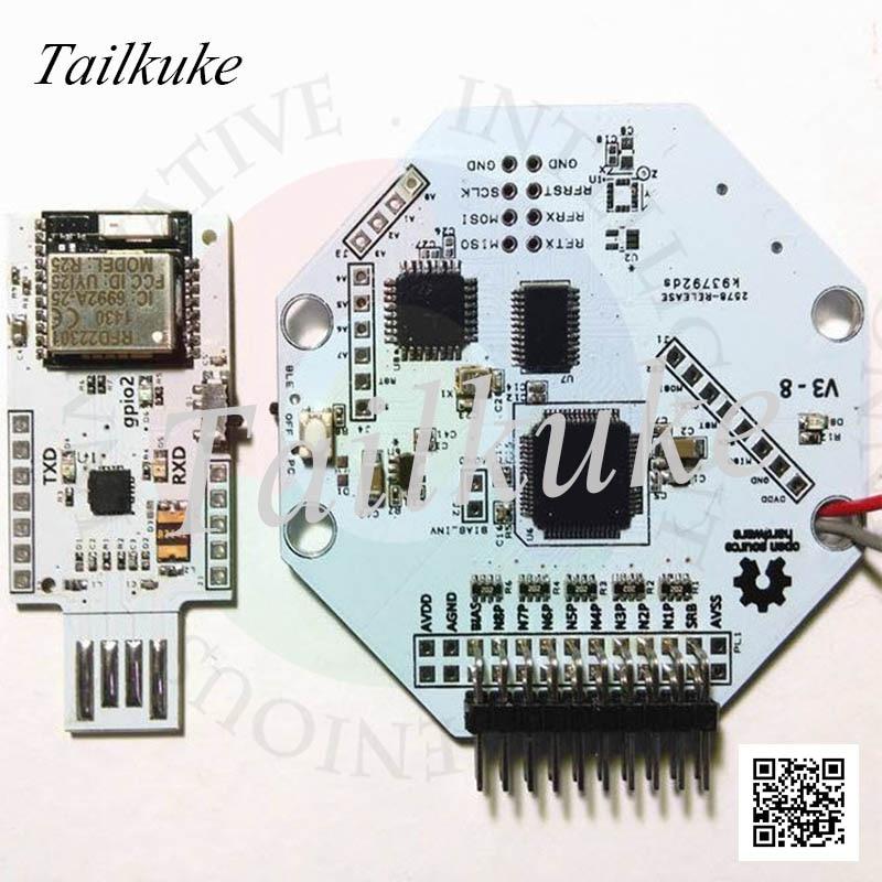 OpenBCI V3 8bit مفتوحة المصدر EEG الدماغ موجة وحدة-8 قناة-النسخة اللاسلكية الرسمية واي فاي الاتصال