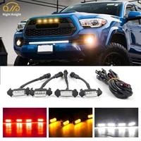 night knight car grid small yellow lights grille middle mesh light for 2016 2019 toyota tacoma trd off road daytime running lamp