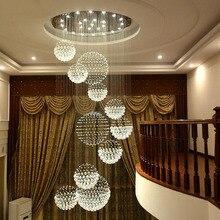 Kroonluchters circulaire wenteltrap duplex villa lange woonkamer lampe moderne minimalistische restaurant lichten