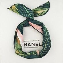 Moda turbante Banana stampa fascia donna coniglietto orecchio fascia per capelli estate filo metallico sciarpa croce Bowknot accessori per capelli per ragazze