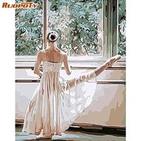 ruopoty diy diamond painting rhinestone woman 5d diamond embroidery portrait ballet handmade gift decorations for home