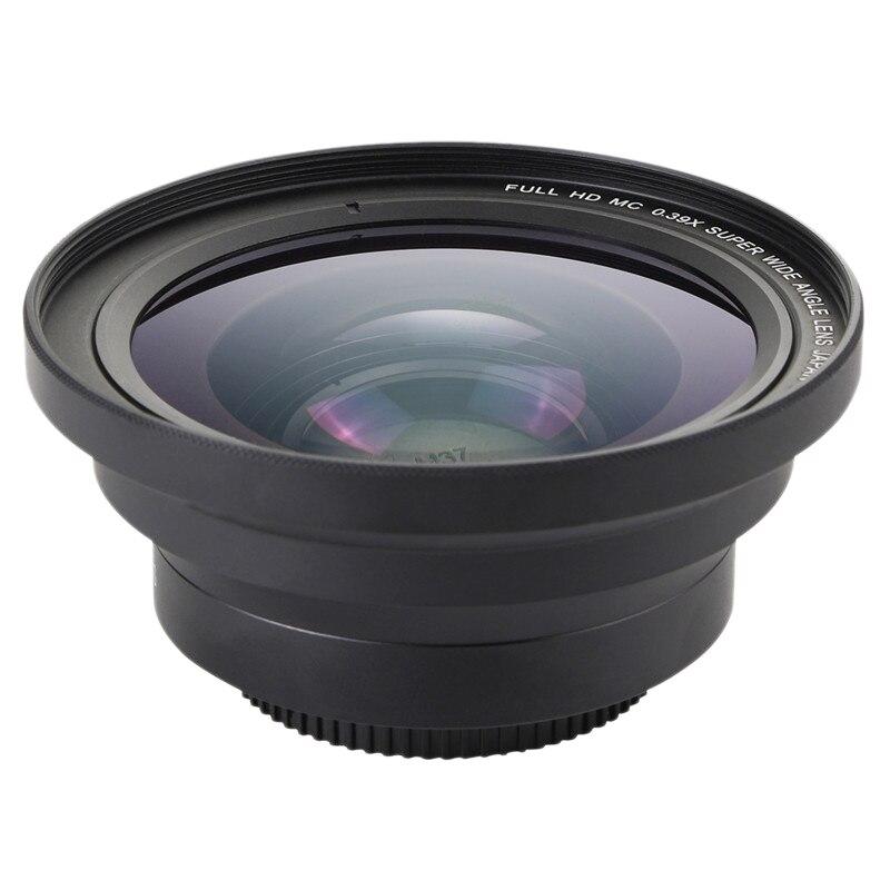 PROFESIONAL 37mm Macro + 72mm lente gran angular de la Cámara 0.39X Full HD para la videocámara 4K