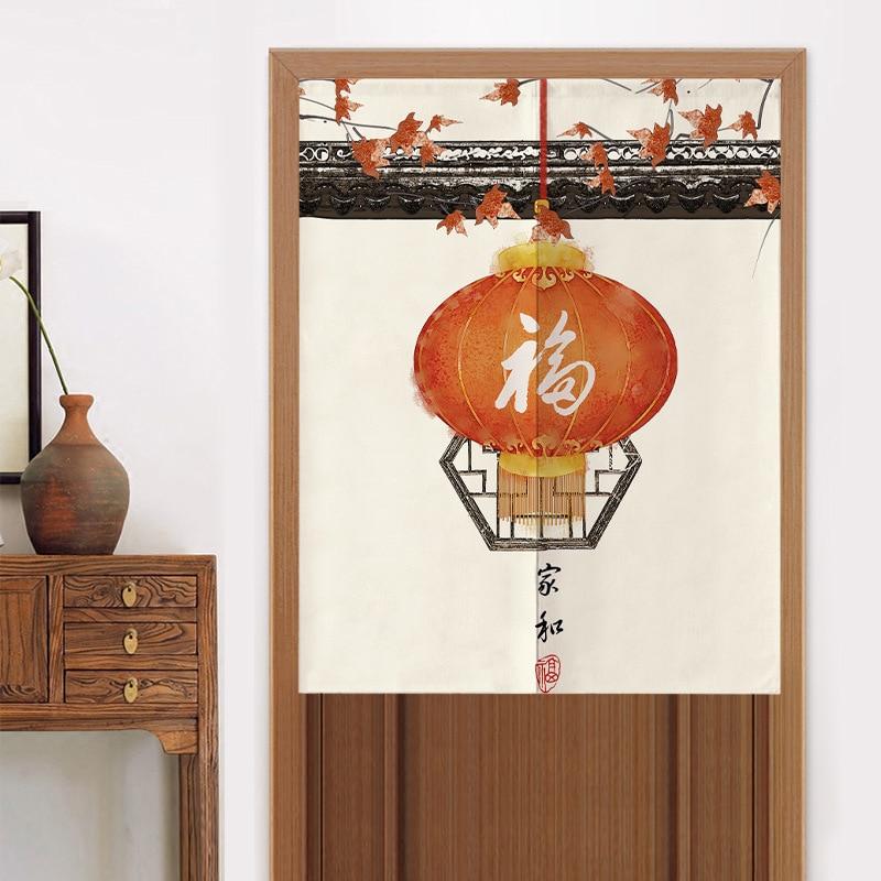 جديد الصينية ستارة مطبخ غرفة نوم ستارة الباب التقسيم الحمام الستار فنغ شوي الستار Noren