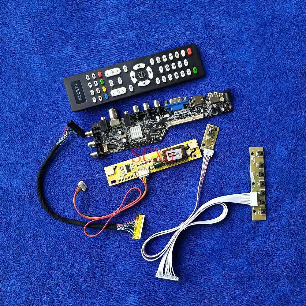 HDMI-متوافق VGA AV USB عدة صالح M216H1-L02/L05/L07 DVB إشارة رقمية 2CCFL LVDS 30 دبوس LCD جهاز تحكم بالشاشة مجلس 1920*1080