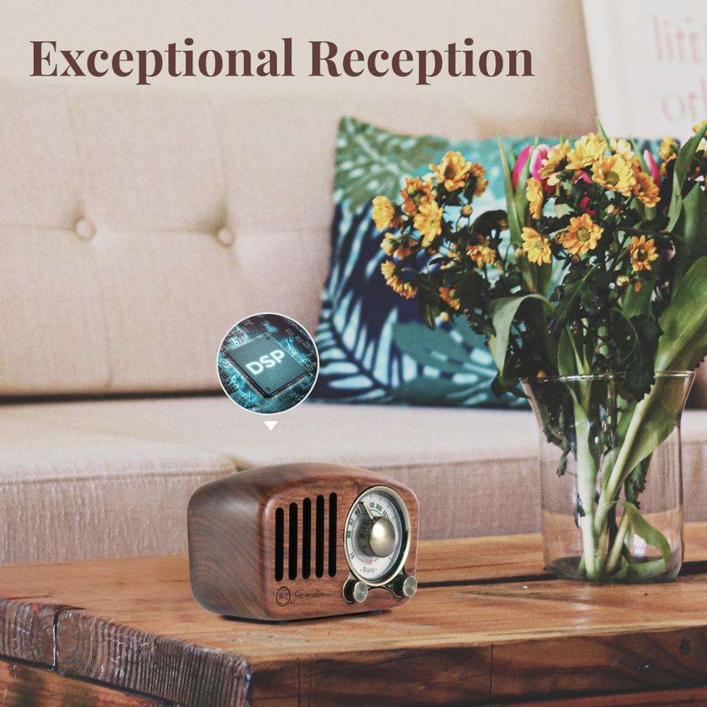 R919 Classical retro radio receiver portable Mini Wood FM SD MP3 Radio stereo Bluetooth radio Speaker AUX USB Rechargeable radio enlarge