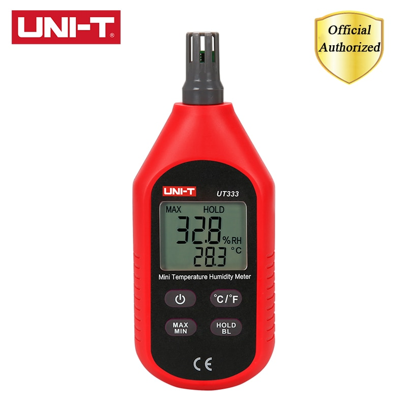 UNI-T UT333 UT333BT Mini medidor de humedad de temperatura luz de fondo LCD higromet Interior Exterior higrómetro indicación de sobrecarga