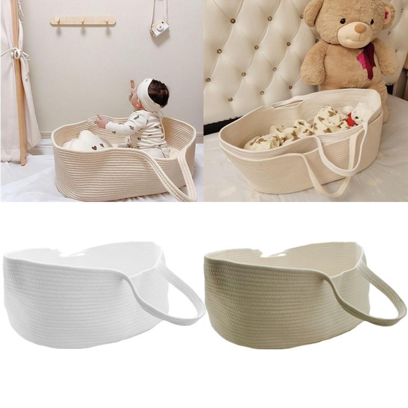 Портативная корзина для новорожденных с хлопковой веревкой