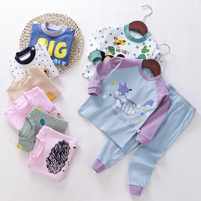 2 قطعة مجموعات منامة الربيع للفتيات 1-7Y بأكمام طويلة ملابس الأطفال القطن الصبي ملابس خاصة دعوى الاطفال ملابس منزلية عادية بيجاما
